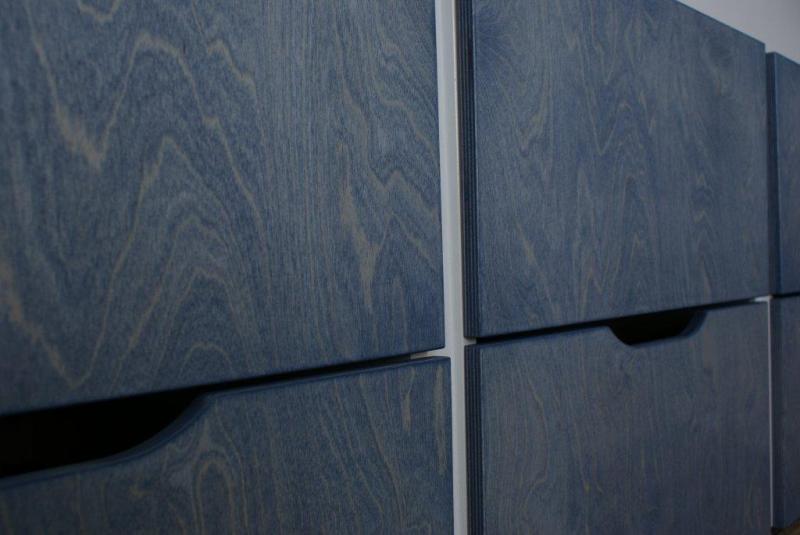 fronten berken multiplex 18mm blauw gebeitst